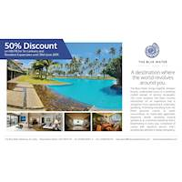 Spend a comfortable and pleasurable stay at The Blue Water Hotel and enjoy 50% savings until the 30th June