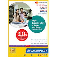 Enjoy exclusive offers at Singer with ComBank Mastercard Cards.