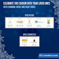 Celebrate this season with you loved ones with Combank Credit and Debit Cards