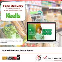 Enjoy FREE delivery when you shop at www.keellssuper.com with DFCC Credit Cards