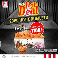 Its the Hot Drumlet Deal! Get 20PC of Hot Drumlets for only Rs.1100!