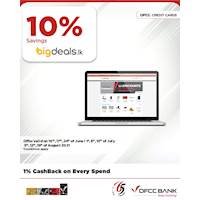 Enjoy 10% savings on selected products at Bigdeals.lk with DFCC Credit Cards!