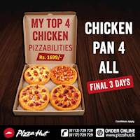 Enjoy CHICKEN PAN 4 ALL with Pizza Hut!