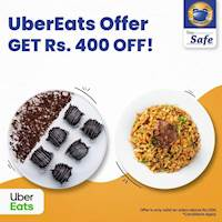 Get Rs. 400 OFF on your total bill when you spend Rs. 1,000 or more on UberEats at Perera and Sons