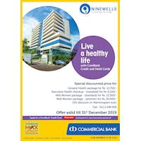 Live a healthy life with Combank Cards at Ninewells