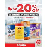 Save up to 20% on selected Wellness Products at Cargills FoodCity outlets