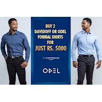 Buy 2 Davidoff or ODEL Formal Shirts for JUST Rs. 5,000 at ODEL