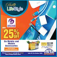 Enjoy up to 25% off on mobile and accessories at Genius Mobile only for Arpico Privilege card