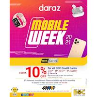 EXTRA 10% OFF sitewide + 0% Plans up to 24M for BOC Credit Cards at daraz.lk