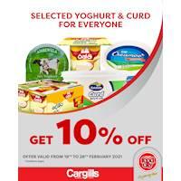 Get 10% Off on selected Yoghurt & Curd at Cargills FoodCity!