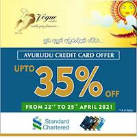 Enjoy up to 35% discounts this Avrudu with Standard Chartered Credit Cards at Vogue Jewellers