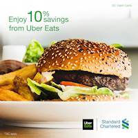 Enjoy 10% Savings from Uber Eats with Standard Chartered Debit Cards