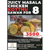 Juicy Masala Chicken kotthu Sawan for Rs. 3500 at La Rose Blanc