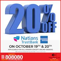 20% OFF for NTB AMEX Credit Cards at Chinese Dragon Cafe!