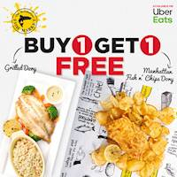 Buy one get one free when you order any of these two dishes on Uber Eats from Manhattan FIsh Market
