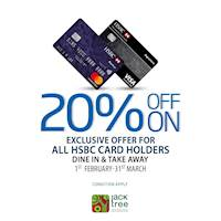 20% Off On Exclusive offer for all HSBC Card Holders at Jack TREE
