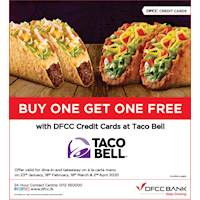 Buy 1 Get 1 FREE at Taco Bell with DFCC Credit Cards
