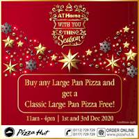 Buy ANY Large Pan Pizza & get a Classic Range Large Pan Pizza FREE from Pizza Hut!
