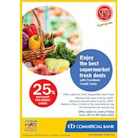 Enjoy the best supermarket fresh deals with ComBank Credit Cards