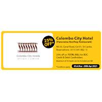 Get 25% Off for BOC credit and debit cards at Colombo City Hotel