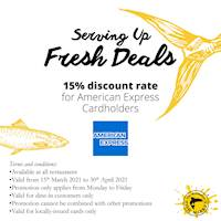 15% Discount for American Express Card Holders at Manhattan Fish Market