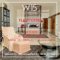 FLASH OFFERS – Get 40% Discount on Ocean View Rooms and on Executive Suite at W15