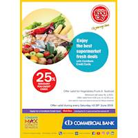 Up to 20% Discount for Credit and Debit Cards purchases at Cargills Food City