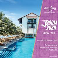 Relax, unwind and get in a tranquil state of mind. Enjoy a 20% discount at Jetwing Blue