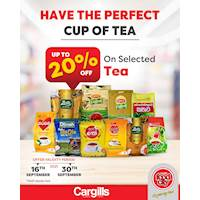 Get up to 20% OFF on Selected Tea from Cargills Food City