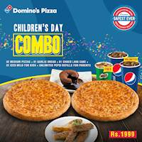 Children's Day Combo - Enjoy a meal for just Rs. 1999 at Domino's Pizza