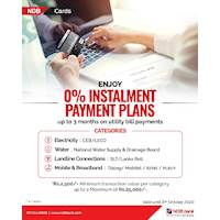 Enjoy 0% Installment payment plans with NDB credit cards Up to 3 Months on Utility Bill Payments