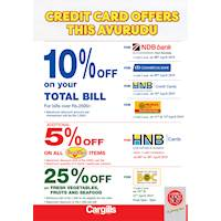 Credit Card Avurudu Offers at Cargills Food City