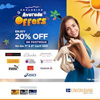 20% off on your favourite footwear brands from Union Bank credit cards