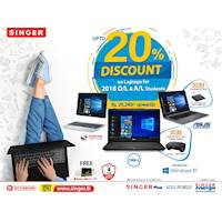 Up to 20 % Discount on Laptops for O/L and A/L students of 2018 at Singer