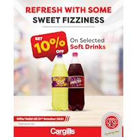 10% OFF on selected soft drinks only at Cargills FoodCity