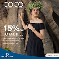 15% Off on Total Bill at COCO by Cotton Collection One Galle Face Mall
