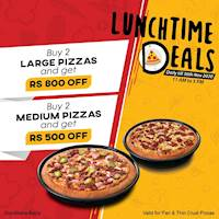 Lunch Time Deals at Pizza Hut this November!