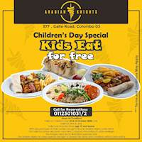 Children's day Special - Kids eat for free at Arabian Knights