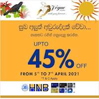 Enjoy up to 45% discounts this Avrudu with Hatton National Bank Visa Credit Cards at Vogue jewellers