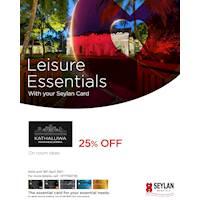 Enjoy exclusive savings of up to 25% at Kathaluwa Mahawalawwa with your Seylan Card