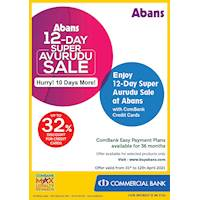 Enjoy 12-Day Super Avurudu Sale at Abans with ComBank Credit Cards