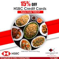 15% OFF for HSBC Credit Cards at Chinese Dragon Cafe