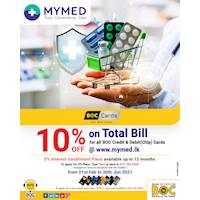 10% OFF on Total Bill at mymed.lk for BOC Credit & Debit(Chip) Cards