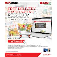 Shop with your NDB credit card at SPAR Super Market and get free delivery