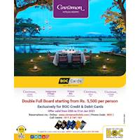 Stay at Cinnamon Resorts with BOC Cards