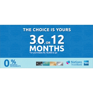 Get 0% interest installment plans for your own choice with NTB cards at Wasi.lk