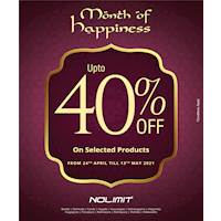 Up to 40% OFF on Selected Products at NOLIMIT