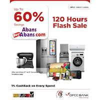 Up to 60% savings at Abans showrooms islandwide and buyabans.com on selected products with DFCC Credit Cards!