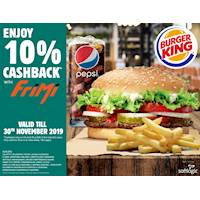 FriMi at Burger King & get 10% Cashback on the first Rs. 2,000 of your Total Bill
