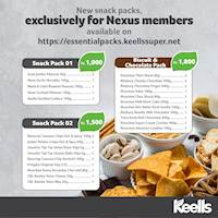 Satisfy your cravings with our all new snack packs at Keells